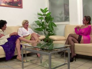 lesbiennes video-, echt grannies, heet matures scène