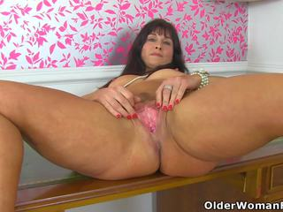 British MILF Lelani gets Aroused in Fishnet Tights: Porn 55