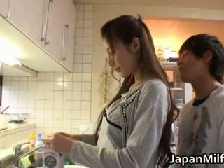 japanilainen, kauneus, äiti