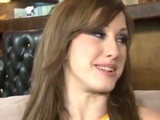 ideaal brunette mov, kwaliteit dubbele penetratie, echt vaginale sex