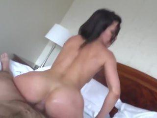 kwaliteit gapende seks, kwaliteit brunettes, zien slaapkamer scène
