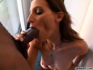Slutty hot Brooke Adams couldnt get enough munching her lovers thick shaft