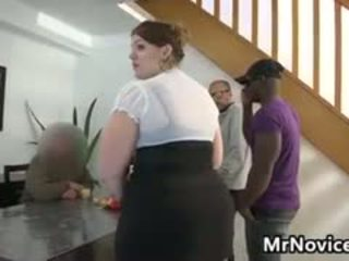 BBW In An Interracial Gang Bang Cuckold