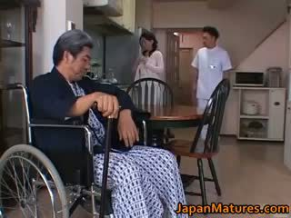 אידאל שחרחורת הטוב ביותר, לבדוק יפני טרי, נחמד מין קבוצתי ביותר