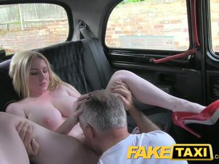 Faketaxi pirang bombshell with great susu gets ayu creampie in taxi