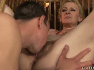 old, gilf, ass licking