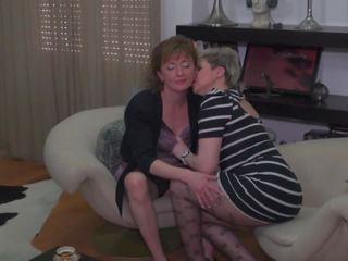 echt lesbiennes video-, heetste kont likken, matures scène