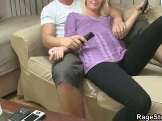 She gives brutal blowjob and rough fucked