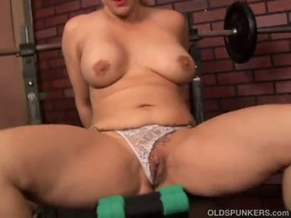 Cute and cuddly mature blonde imagines you fucking her wet pussy