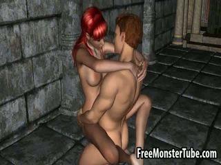 Foxy 3D cartoon redhead honey getting fucked hard