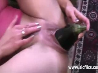 Amateur milf double fisted in her huge vagina
