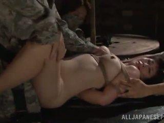Китаянка військова hole has captured і bumped величезний
