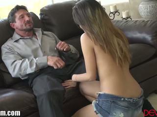 ideaal brunette, online orale seks neuken, groot deepthroat scène
