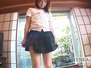 Japanese schoolgirl marbles insertion for jump rop