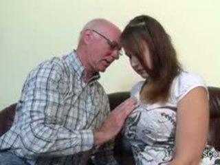 Old Grandfather Seduce German Grand-Daughter To First Fuck