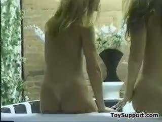 online lesbiennes scène, ezel, dildo video-
