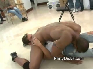 Group of men wild for stripper dicks