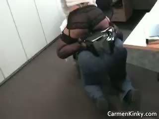جنسي غريب carmen spanks و rides لها part6