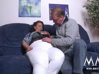 MMV FILMS German feeder loves to fuck his BBW wife