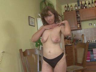 Amateur Mother with Saggy Tits and very Hairy Pussy...