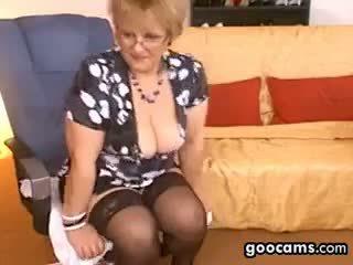 বিগ boobs, ওয়েবক্যাম, বৃদ্ধা, একাকী
