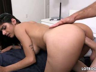 Big tit Mia Khalifa enjoys hard cock