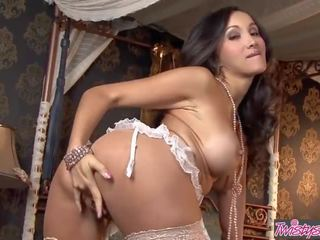 Twistys - Big Tit Asian Teen Katsuni Plays With Her Pussy in Lingerie