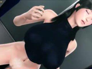 Animated Brunette Gets Fingered Until Cums