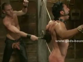 Gay sex slave tied with ropes sex
