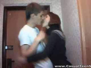 Hot casual fuck in a hallway