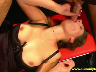 cumshots, group sex, shaved pussy