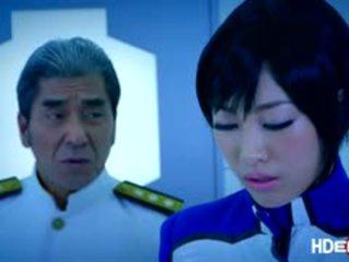 Japanese Spacewoman Gets A Bukake Fuck