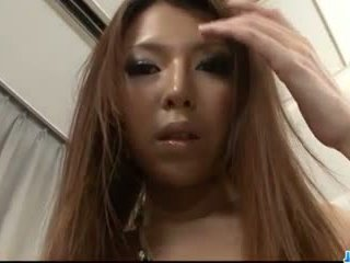 Rino Asuka devours cock in her mouth before rough sex