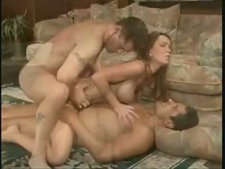 Cum loving Envy gets double penetrated before getting drenched in warm nut juice