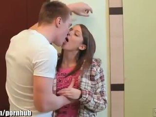 Webyoung College guy sucking Petite Teen Angel's Pussy