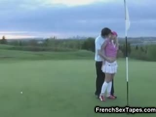 Teens Hard Sex On The Golf Course