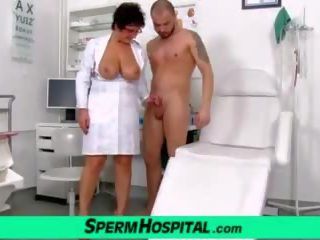Big Tits Lady Greta with a Boy, Free Sperm Hospital Porn Video
