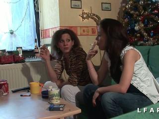 レズビアン, フランス語, 女の子, hdポルノ