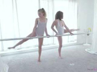 Young Teen Ballerinas Dakota Skye And Sydney Cole Indulge