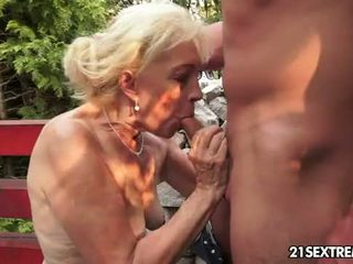 Images - Granny plays with cock