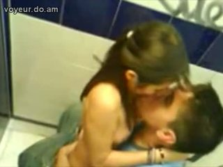 Horny Couple Fucking In Public Toilet