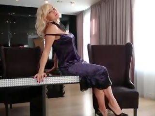 55yo Lativian MILF Sylvie Masturbating Her Shaved Pussy