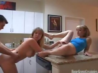 Amateur Threesome Ends with a Messy Creampie: Free Porn 69