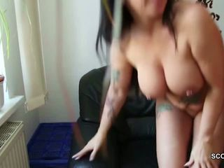 German Young Man Seduce MILF Step-mom to Fuck and...
