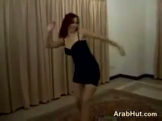 Sexy Arabic Chick Showing Off Her Dance Moves