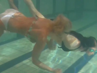 Retro Footage of Two Underwater Lesbians, Porn 12