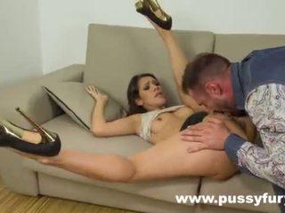 Samia Duarte sucks dick like nobody else in fucking sloppy deepthroat