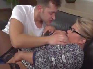 Big Busty Mature Blonde MILF Fucks Young Guy: Free Porn 15