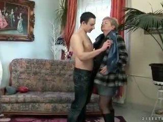echt zuigen, oud, controleren grootmoeder