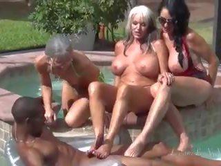 groot groepsseks seks, groot milfs, plezier oude + young film